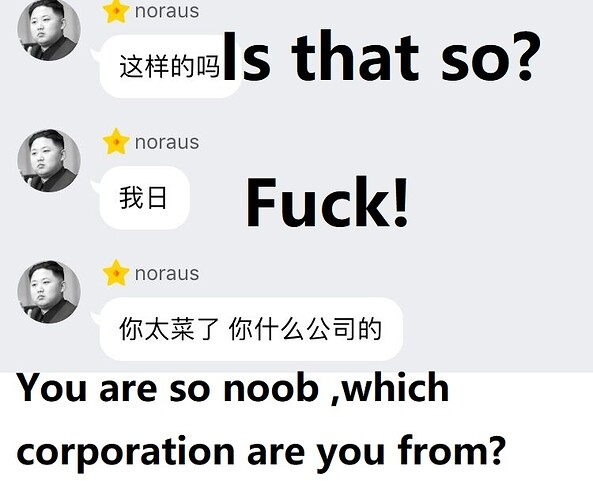 You are so noob ,which corporation are you from